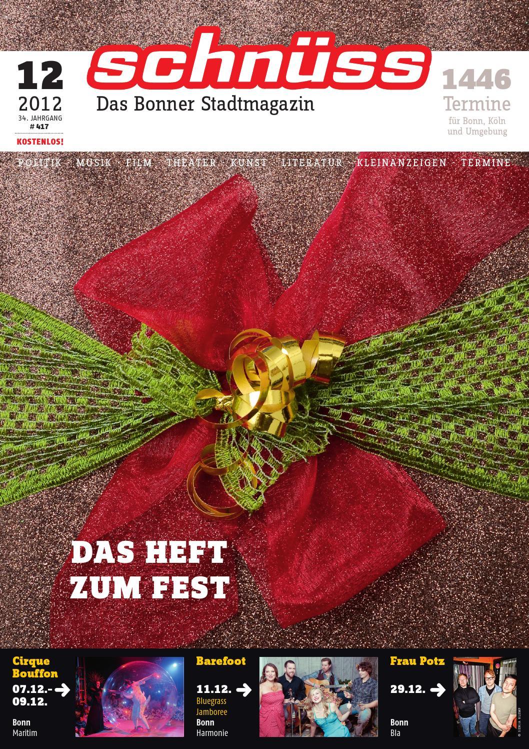 Schnüss 2012/12 by Schnüss - Das Bonner Stadtmagazin - issuu