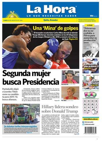 Quito 08 de Agosto de 2016 by Diario La Hora Ecuador - issuu 059e3ecb34efe