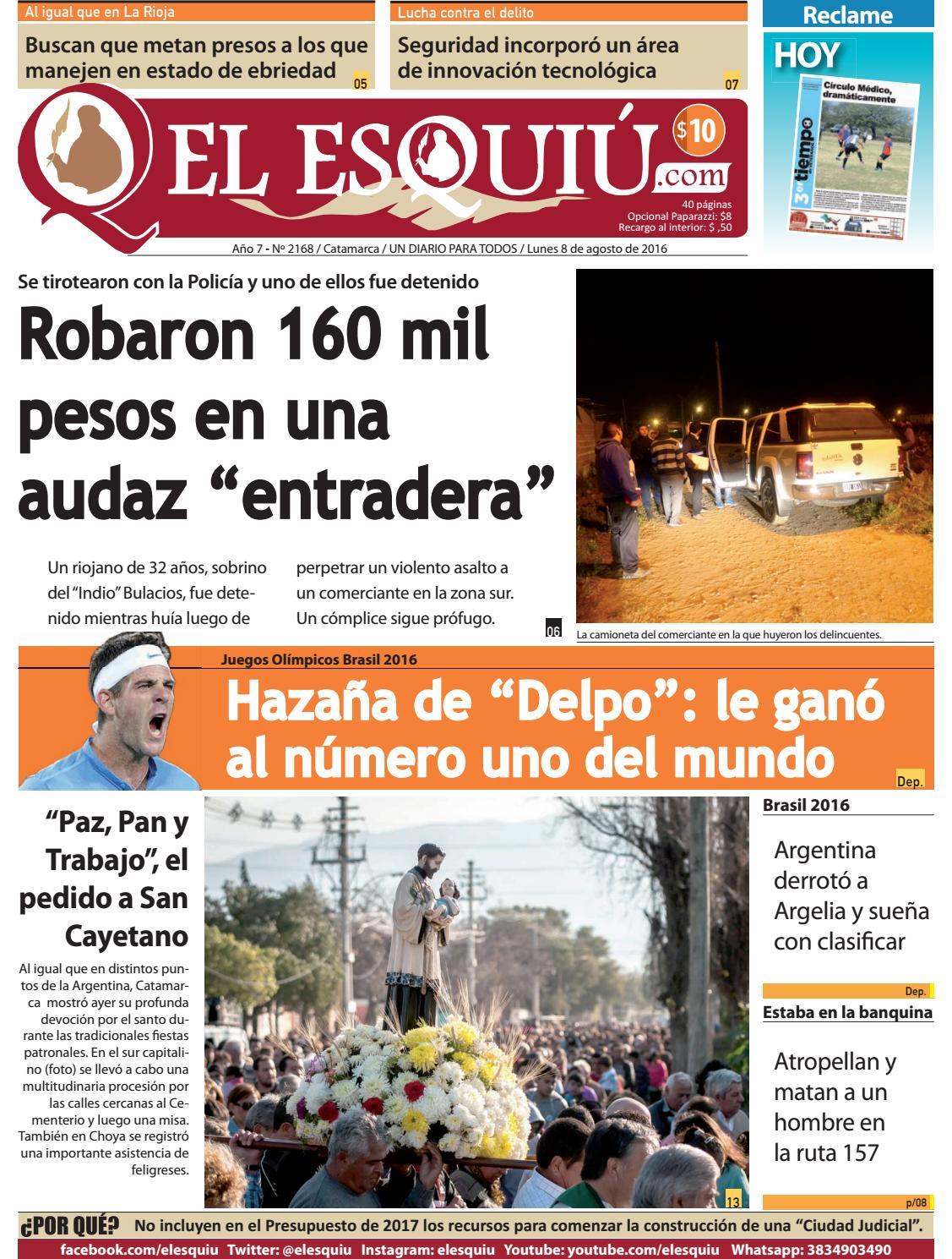 El Esquiu Com Lunes 8 De Agosto De 2016 By Editorial El Esqui  # Muebles Doblecinco