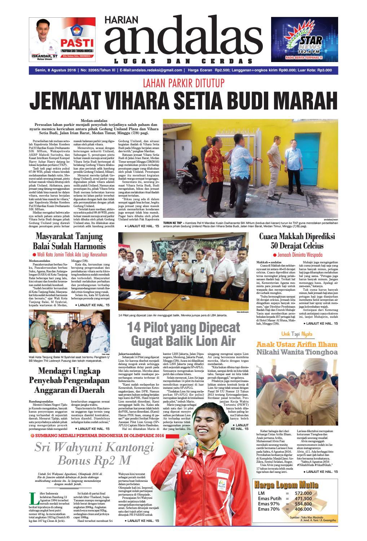 Epaper andalas edisi senin 8 agustus 2016 by media andalas - issuu f885235b13