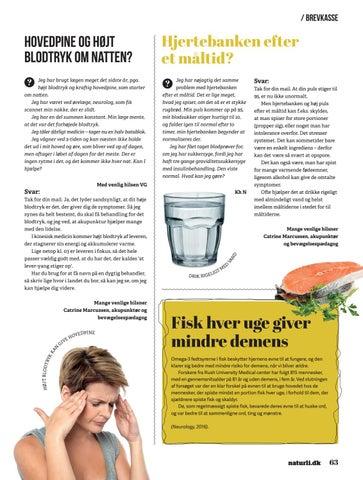 hjertebanken og hovedpine