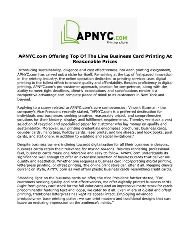 Apnyc com offering top of the line business card printing at apnyc offering top of the line business card printing at reasonable prices introducing sustainability diligence and cost effectiveness into each reheart Image collections