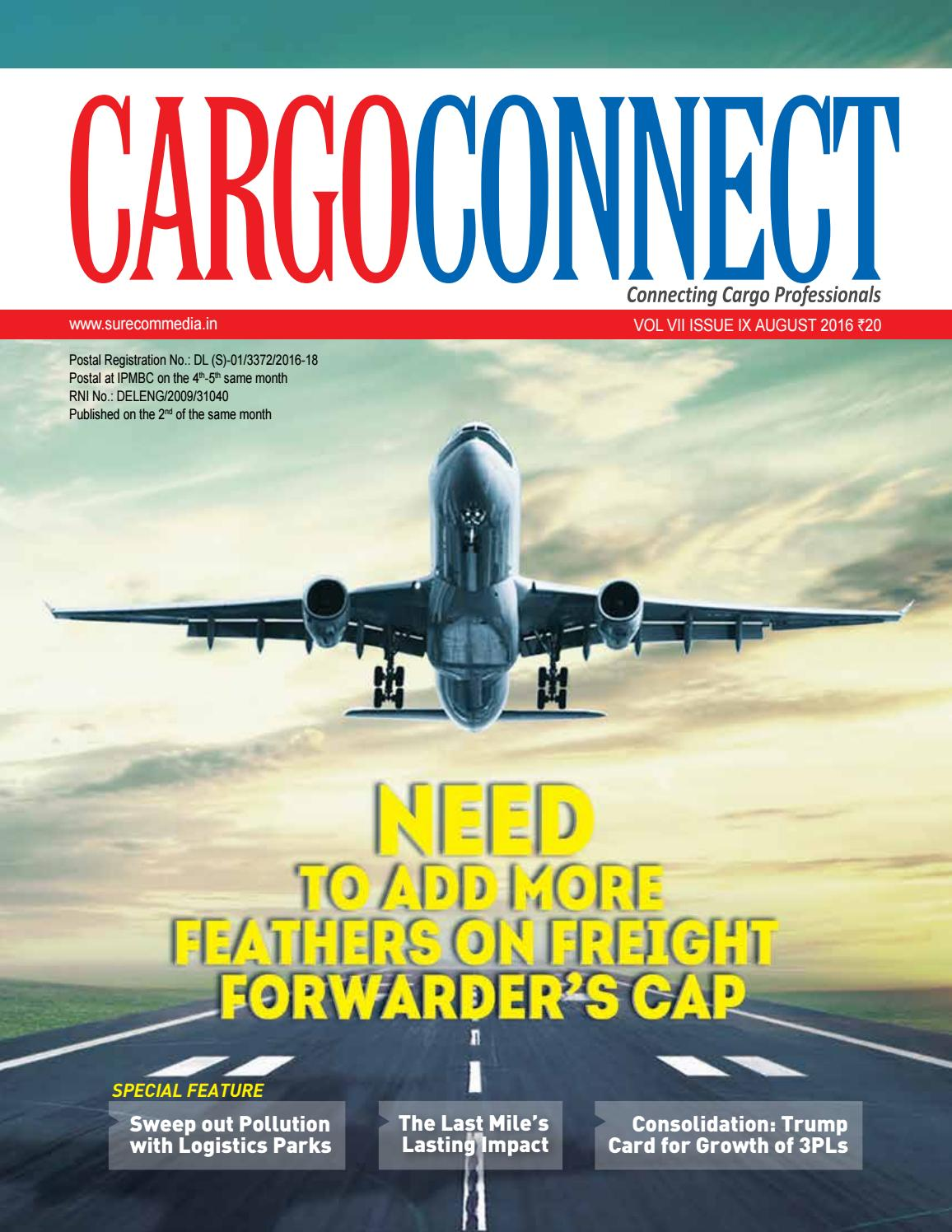 Cargo Connect August 2016 by Surecom Media - issuu