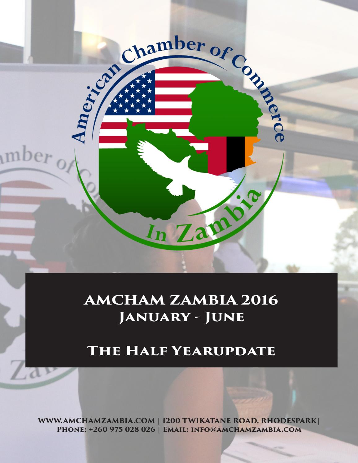 American chamber of commerce in zambia newsletter the for American chambre of commerce