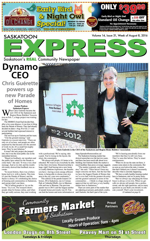 Saskatoon Express, August 8, 2016 by Saskatoon Express - issuu
