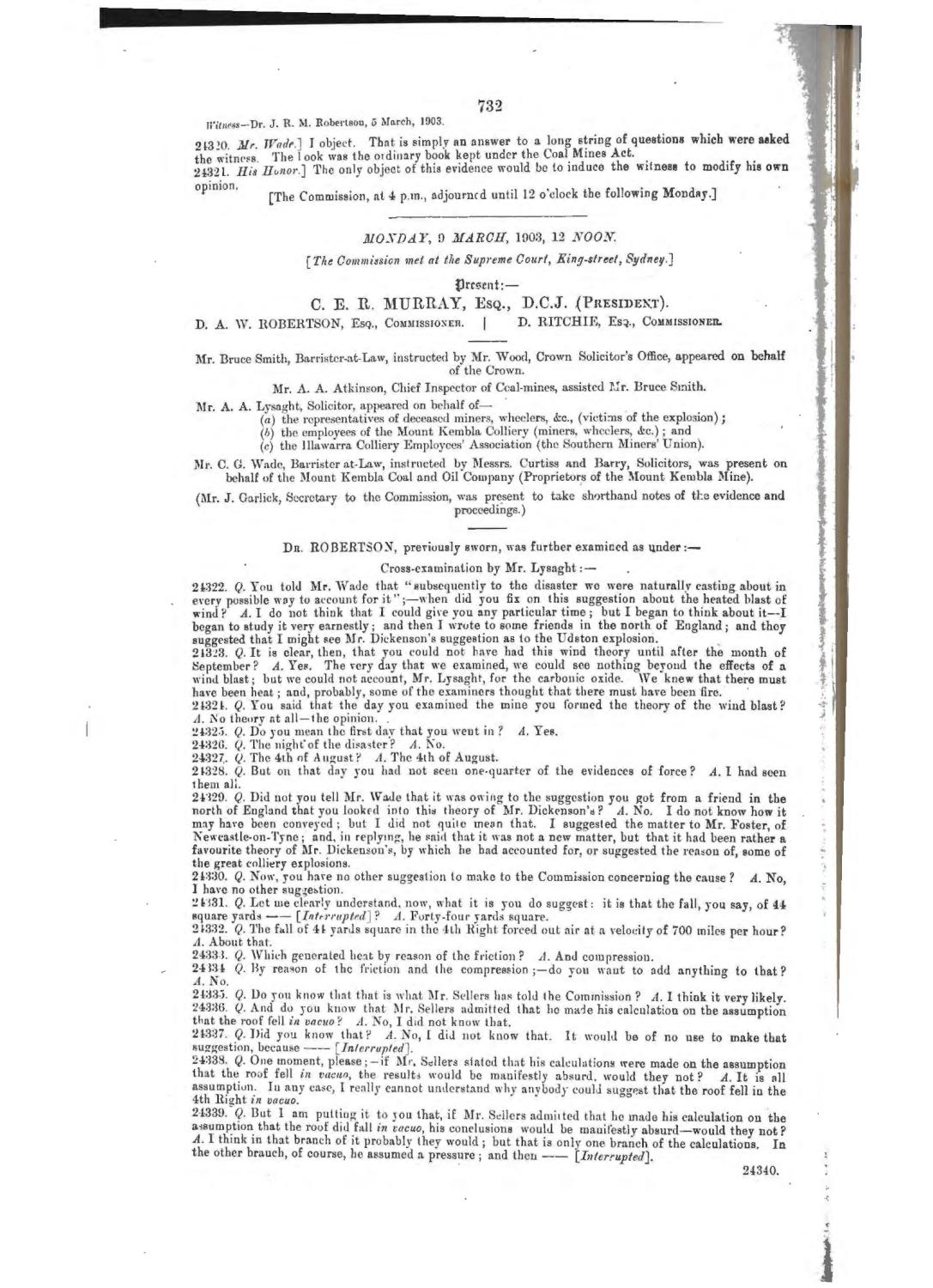 Mt Kembla Mine Disaster Report 1903 Part 4 By Uow Library