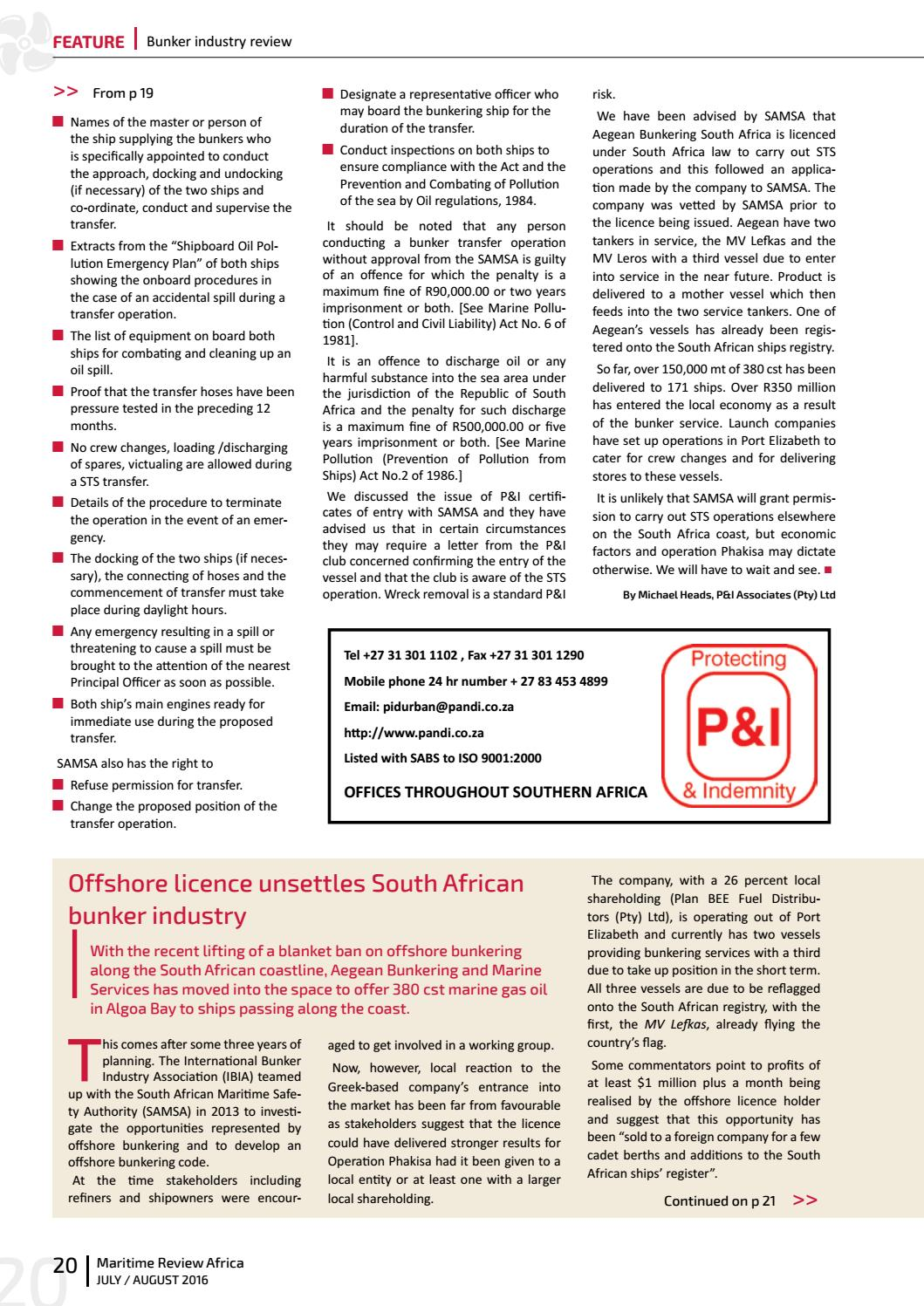 Maritime review africa julyaugust 2016 by more maximum media issuu xflitez Choice Image