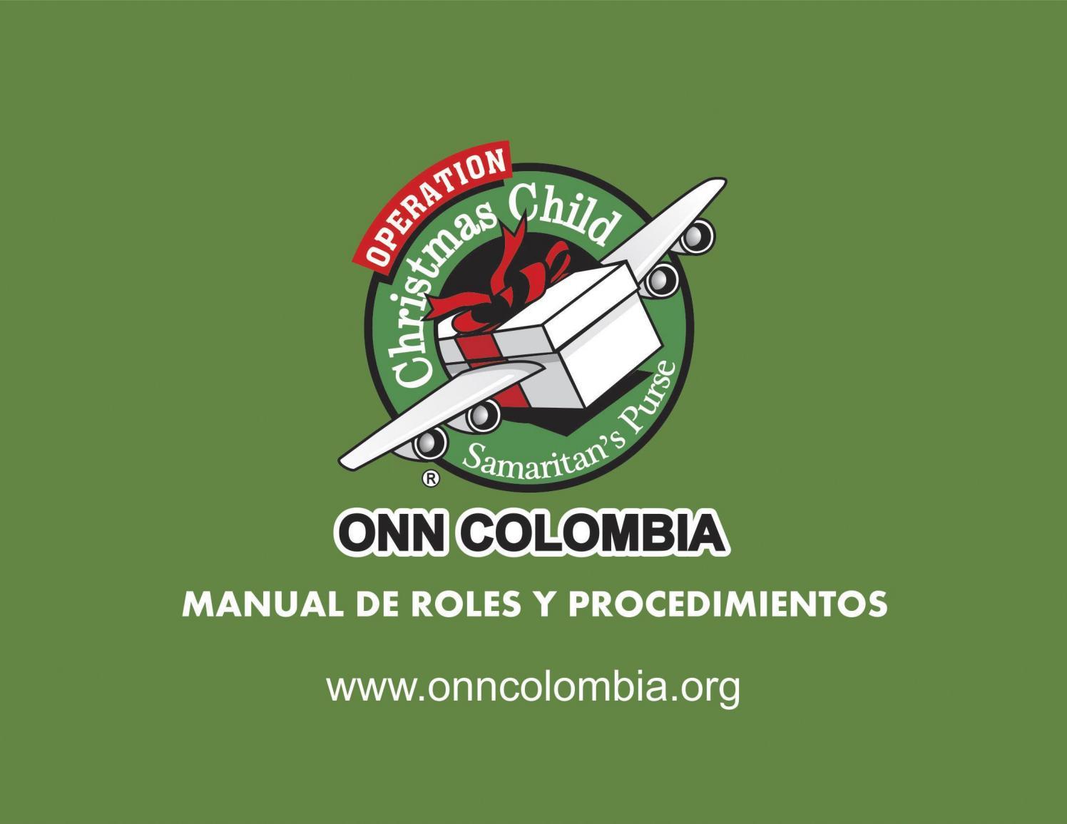 Manual De Roles Y Procedimientos Onncolombia 2016 By Diseño