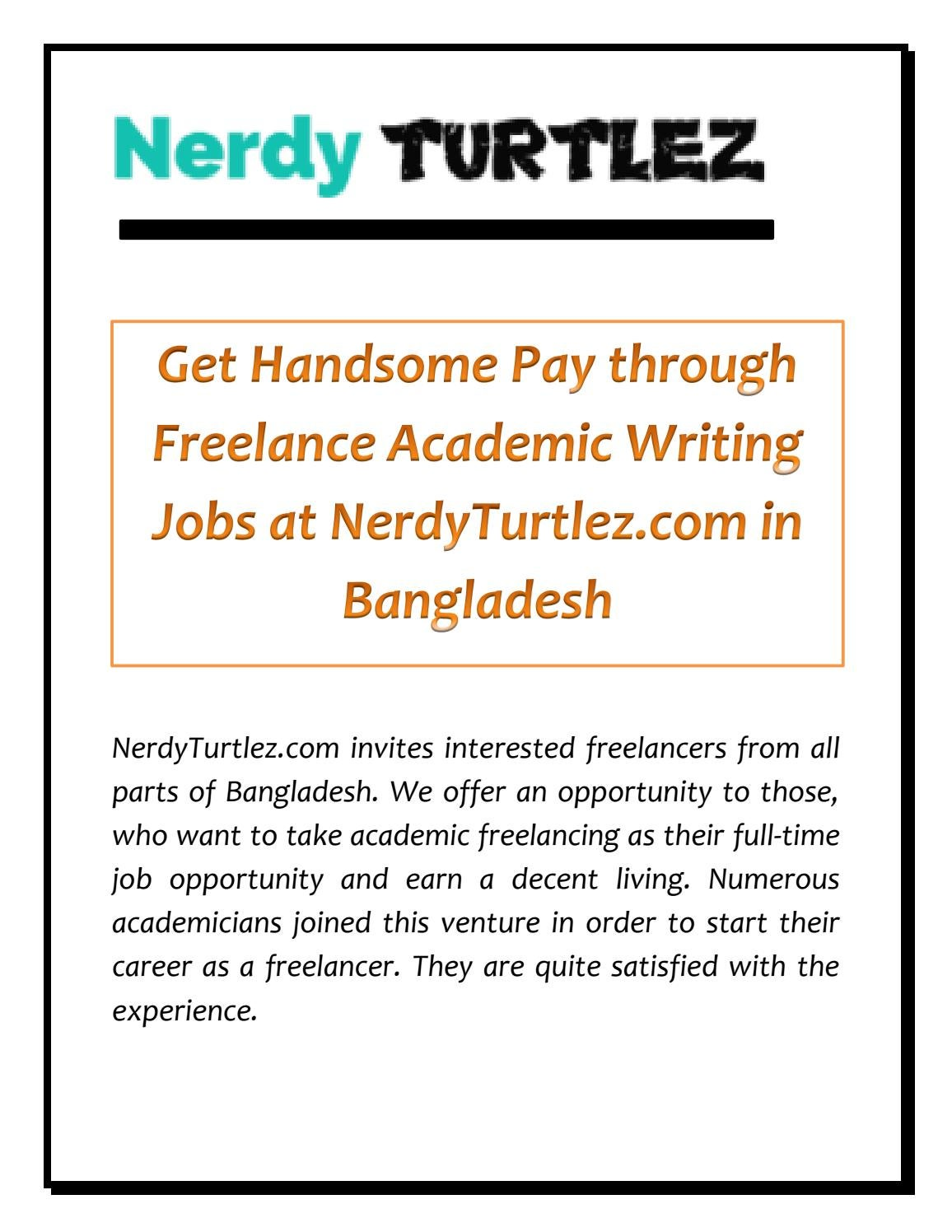 Freelance Writing Jobs for Academic and Business Experts