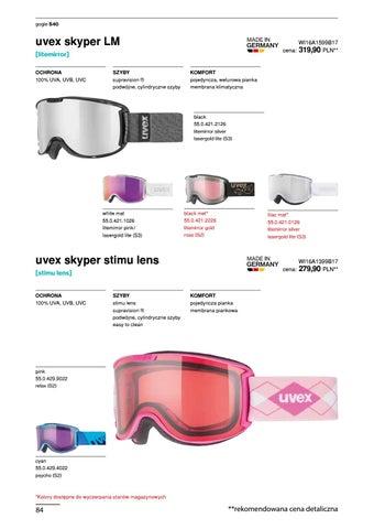 Uvex Catalog New Winter Season 2016 2017 PL by snowsport snowsport ... d7bf6bbf121