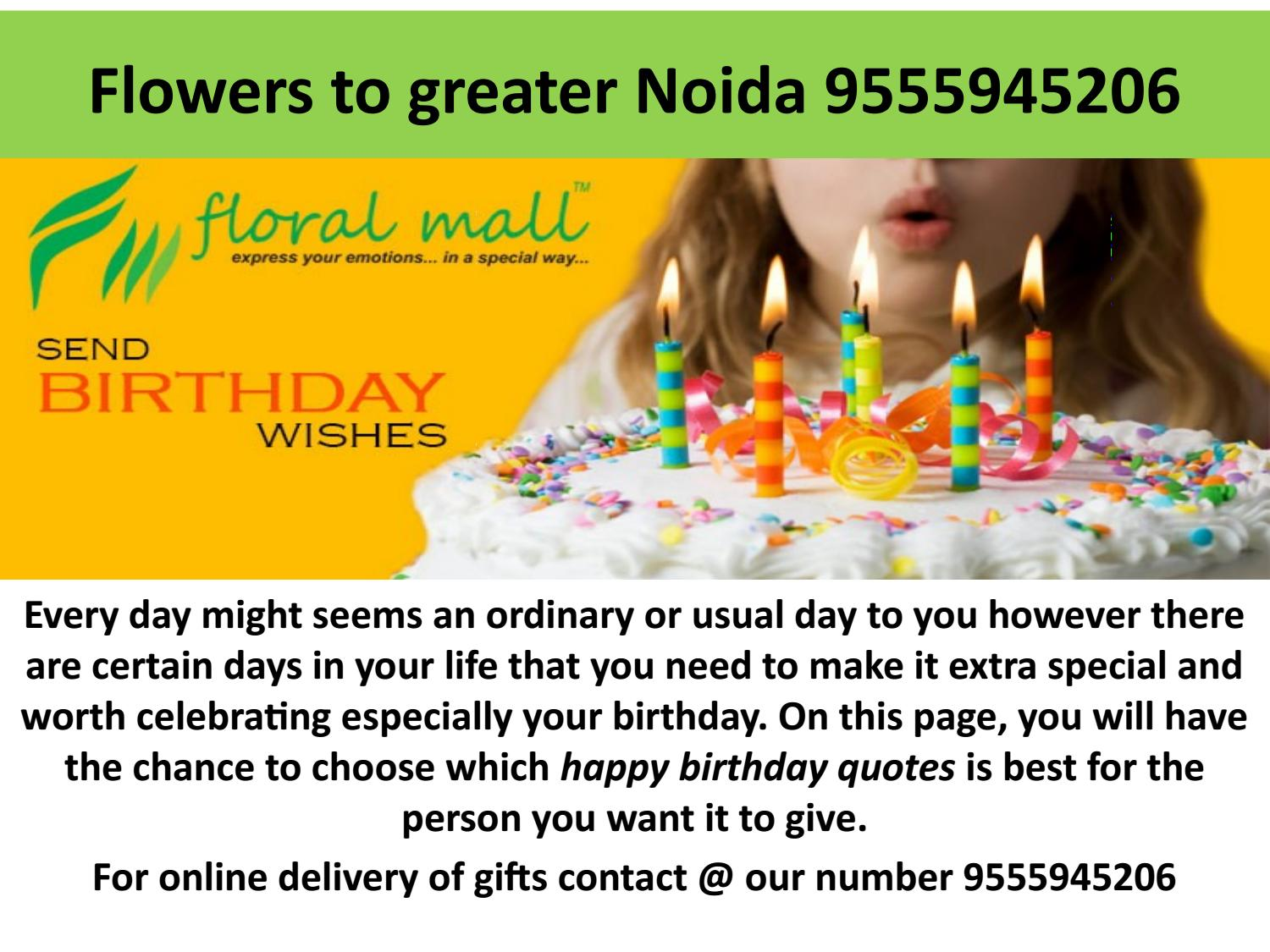 Flowers To Greater Noida 9555945206