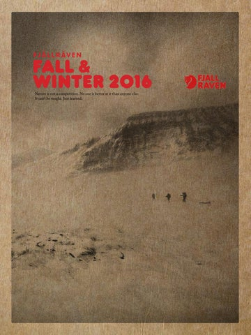 2064627da Fjallraven Catalogue FW 2016.17 by MountainBlogIT - issuu