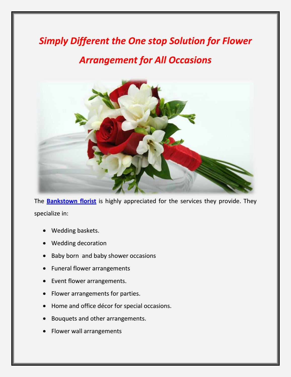 Simply Different The One Stop Solution For Flower Arrangement For