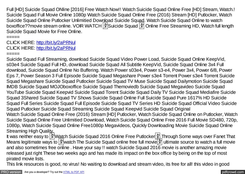 free full movie suicide squad online