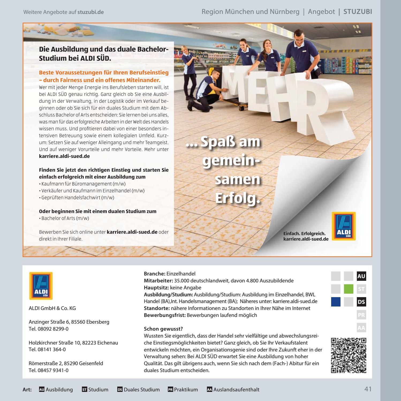 schlermagazin fr die regionen mnchen und nrnberg by stuzubi issuu - Karrierealdi Suedde Online Bewerbung