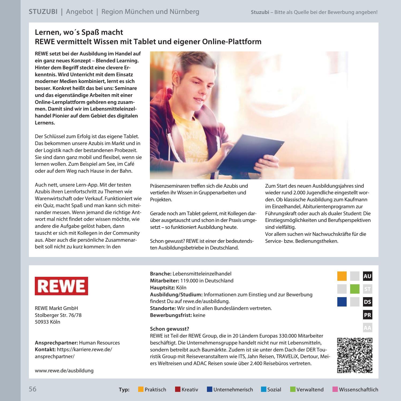 schlermagazin fr die regionen mnchen und nrnberg by stuzubi issuu - Rewe Bewerbung Online
