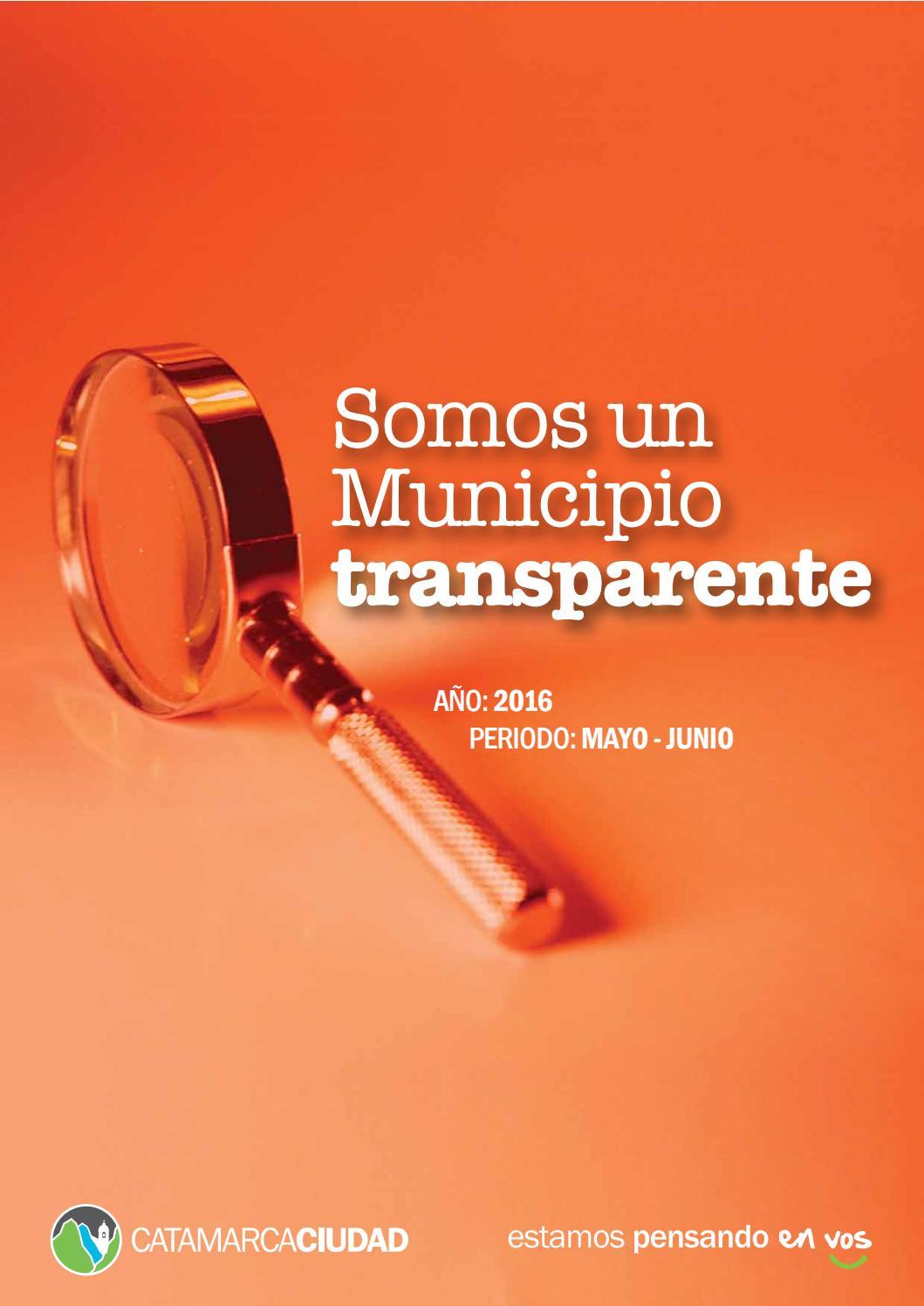 Somos Un Municipio Transparente Transparencia Municipal