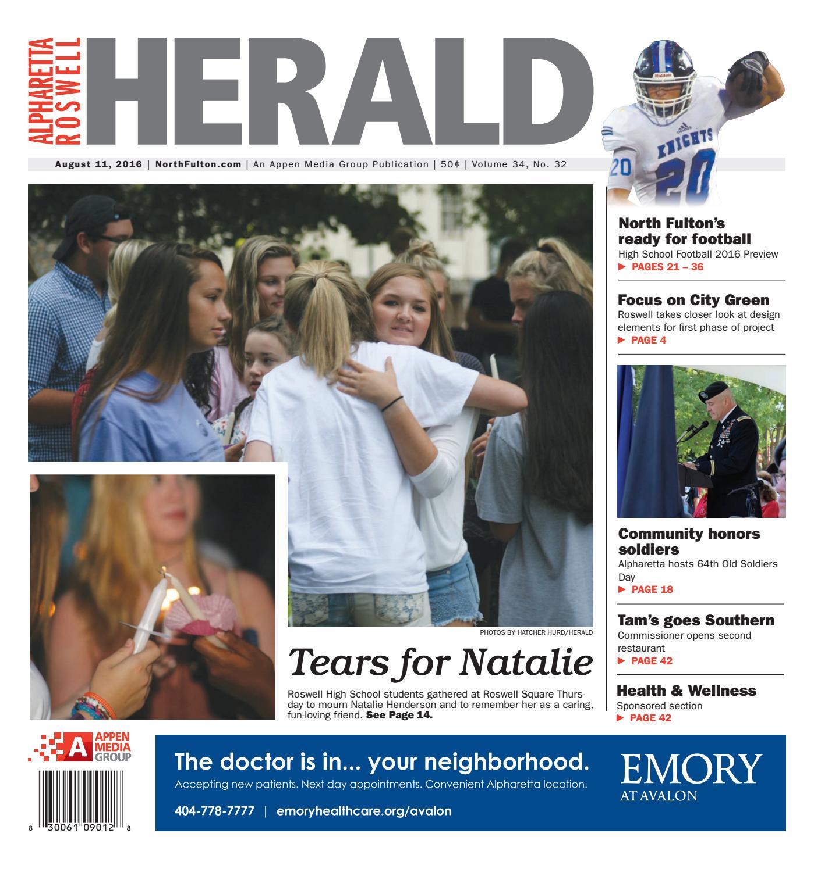 AlpharettaRoswell Herald August 11 2016 by Appen Media Group – Massage Envy Alpharetta