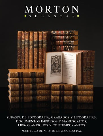 Subasta de Libros y Documentos by Morton Subastas - issuu 5a4acdc4f69