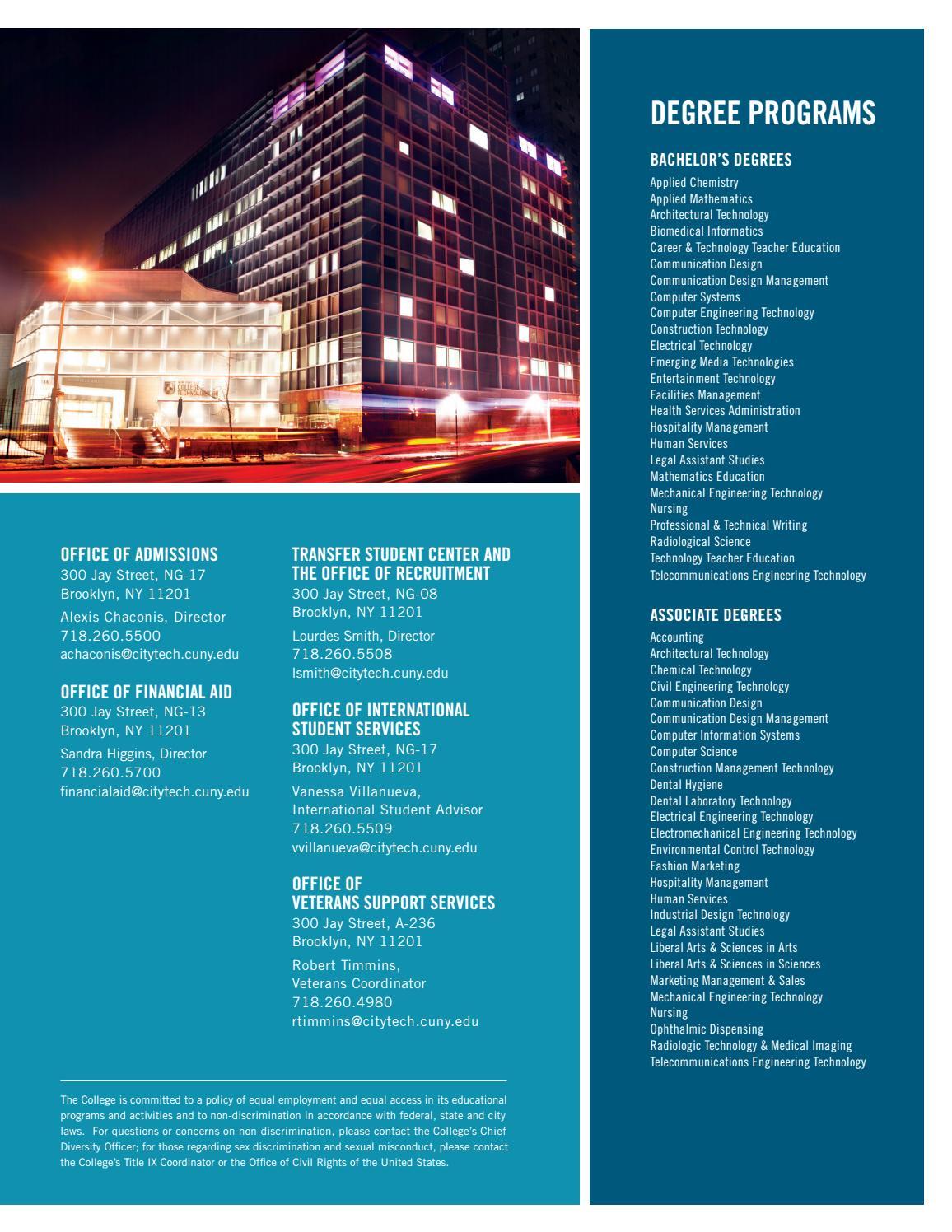 Viewbook: City Tech Value by City Tech - issuu