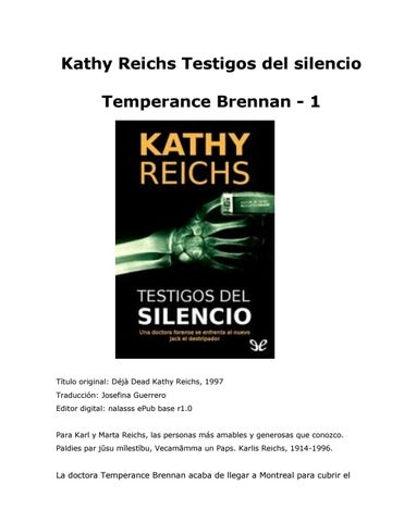 Kathy Reichs Testigos Del Silencio By Alezxandragt Issuu