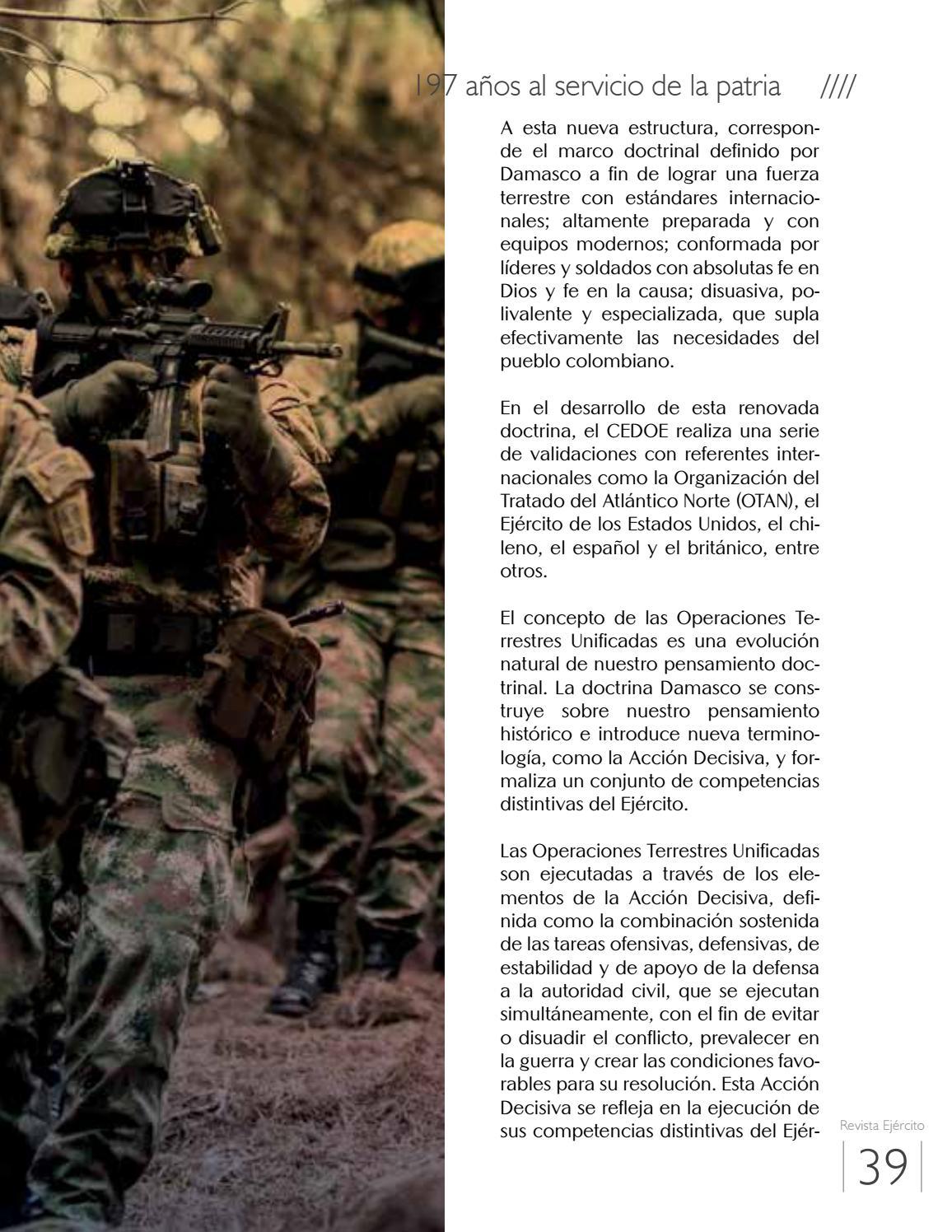 Revista Ejército # 183 by Ejercito Nacional - issuu