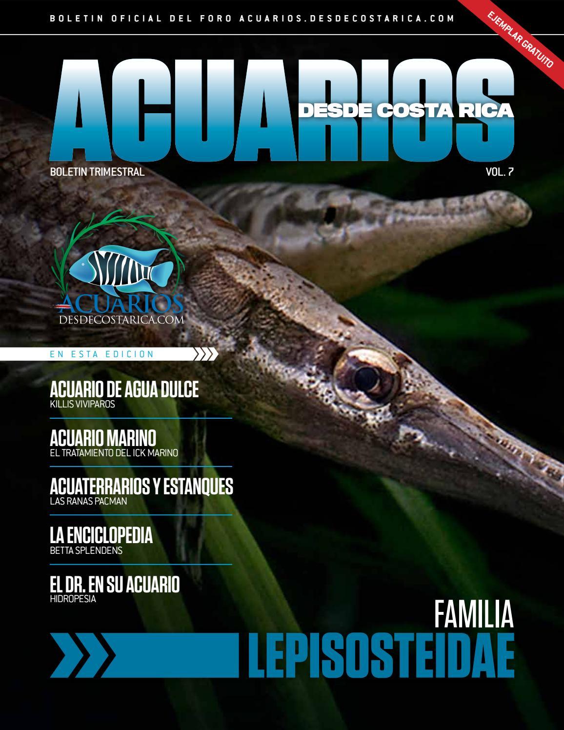 Revista acuarios desde costa rica vol 7 by la magia de for Manual de peces ornamentales