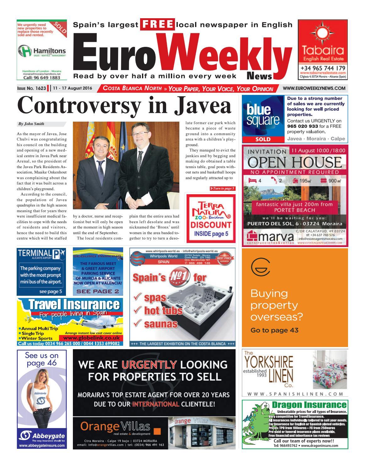 Euro Weekly News - Costa Blanca North 11 - 17 August 2016 ...