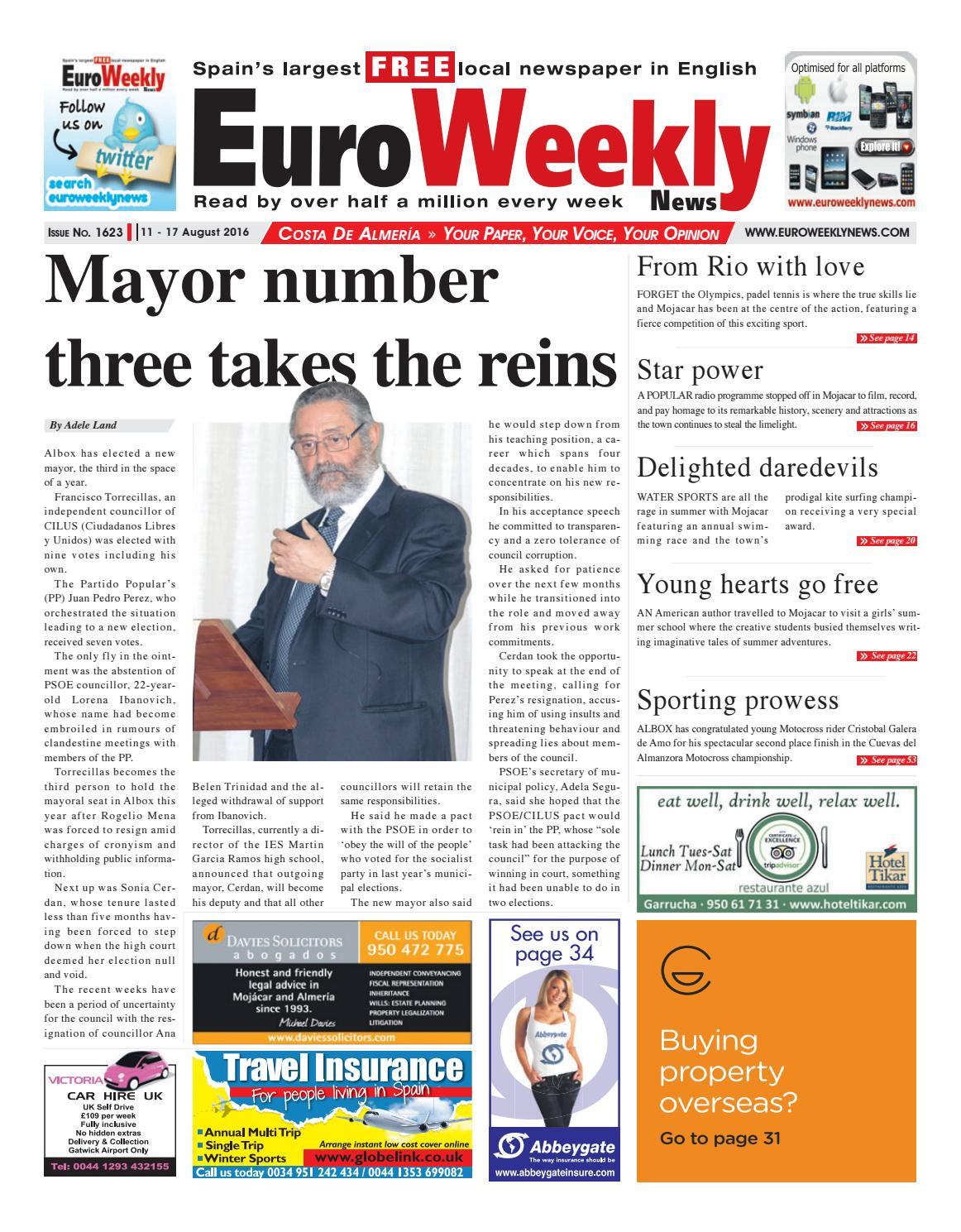 Euro Weekly News - Costa de Almeria 11 - 17 August 2016 ...