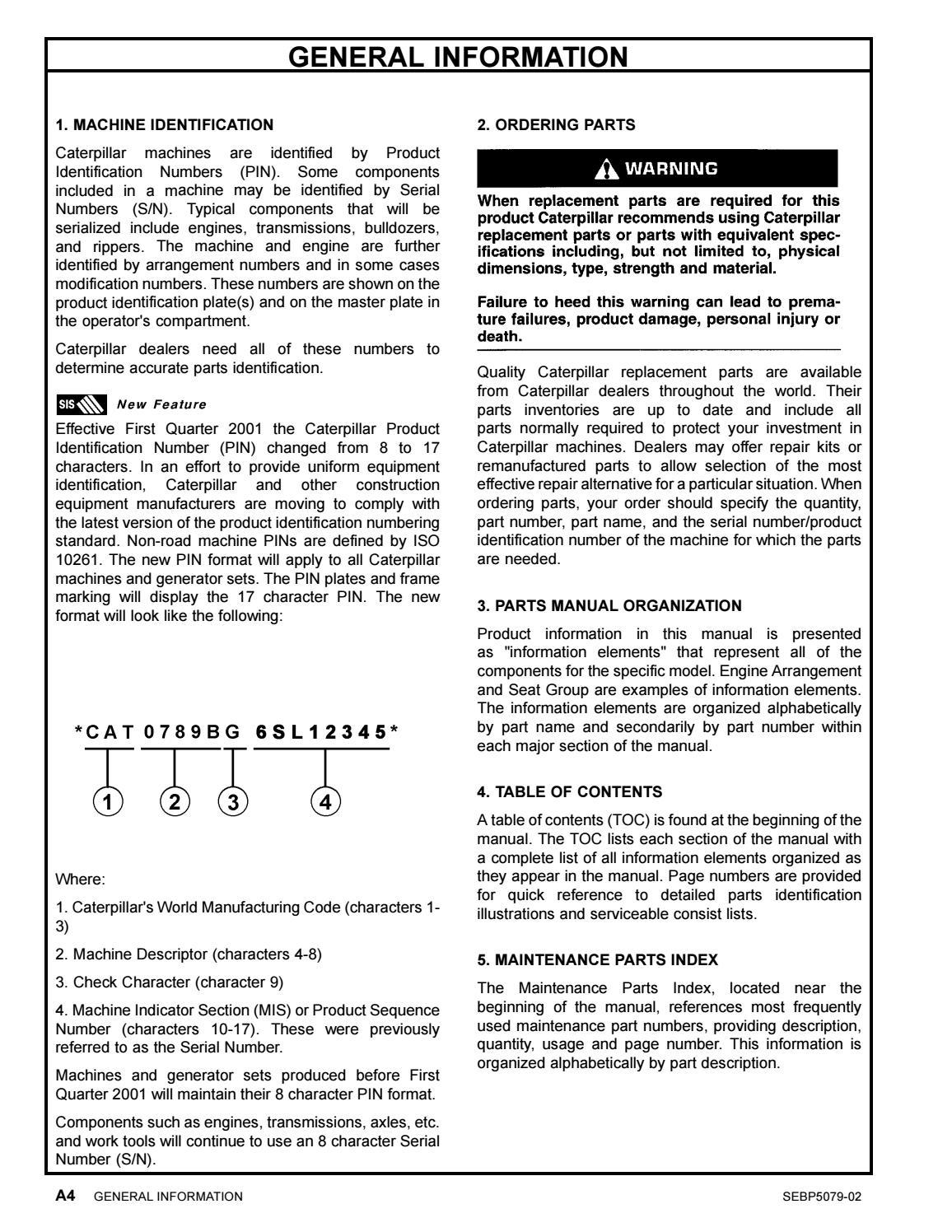 Parts manual 422e backhoe loader