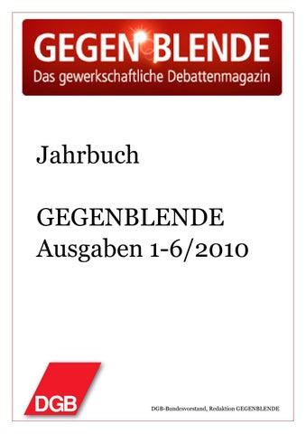Jahrbuch GEGENBLENDE 2010 by Gegenblende - issuu
