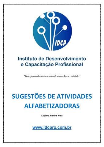 Apostila Sugestões De Atividades Alfabetizadoras By Idcp Issuu