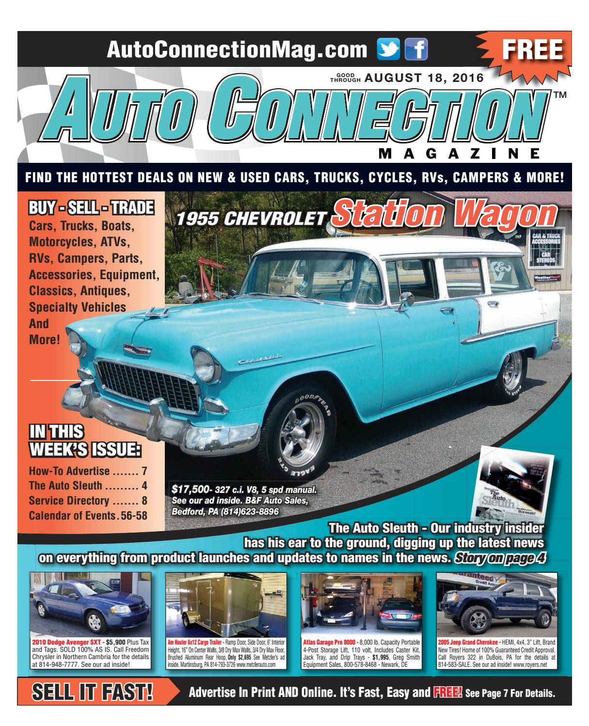 08 18 16 Auto Connection Magazine By Issuu 1988 Chevy Wire Diagramalternatorg20 3 4 Ton Full Size Van