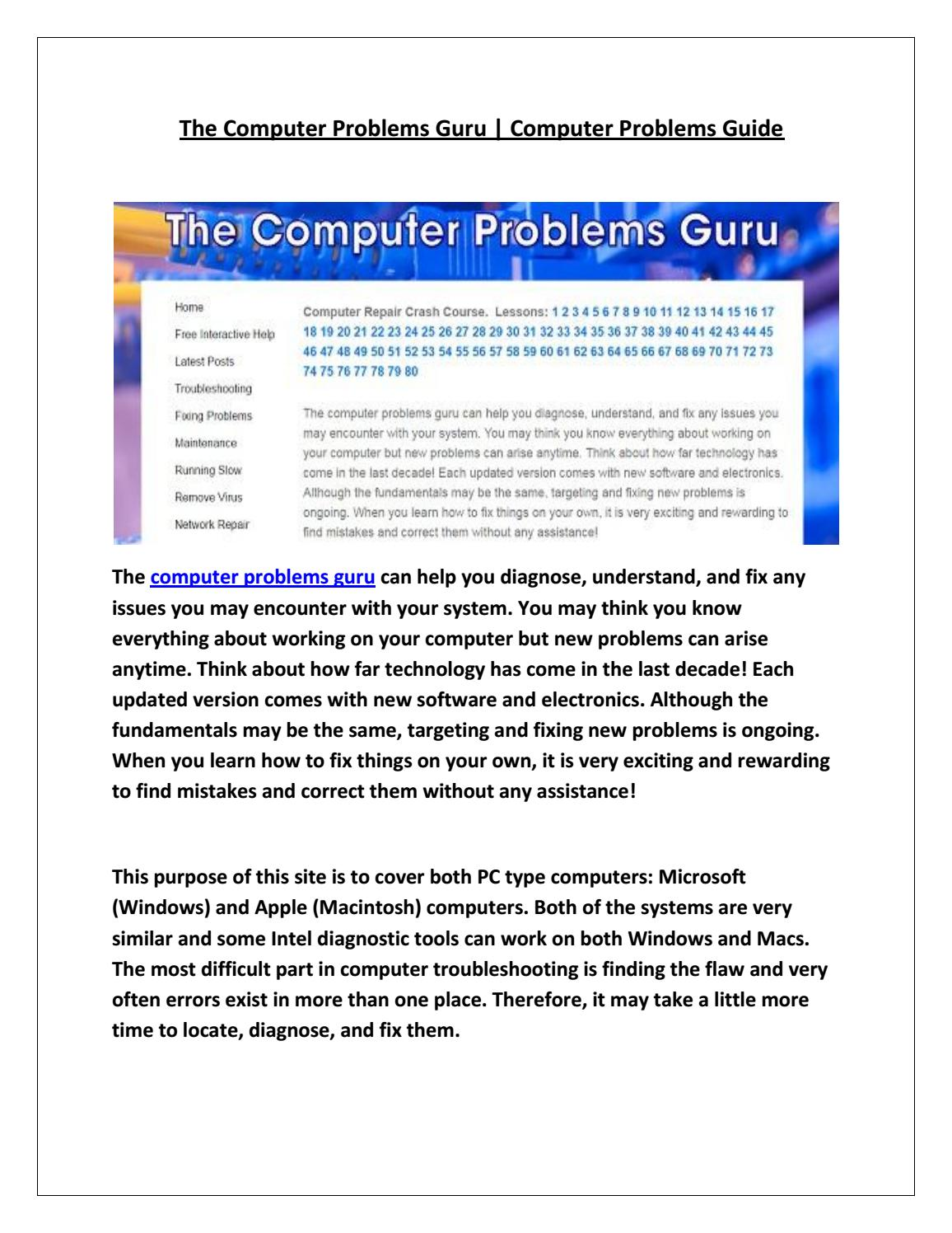 The computer problems guru by davenicknelson - issuu