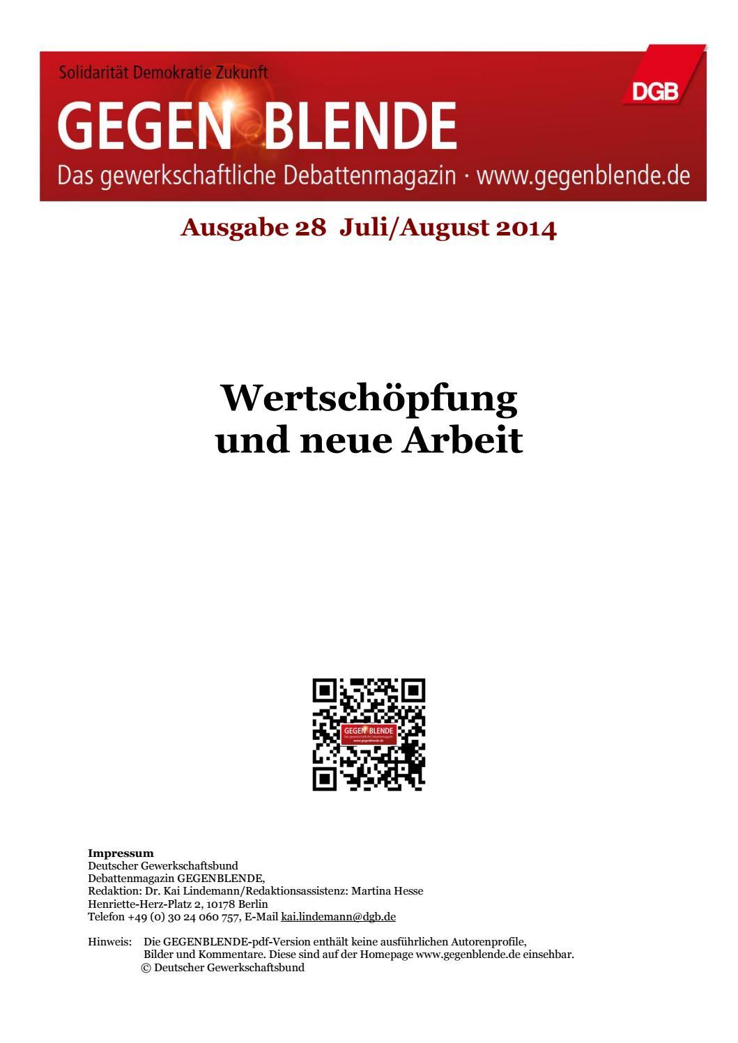 GEGENBLENDE Ausgabe 28 by Gegenblende - issuu