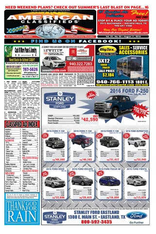 Digital edition 8 11 16 by wichita falls american classifieds issuu page 1 fandeluxe Choice Image