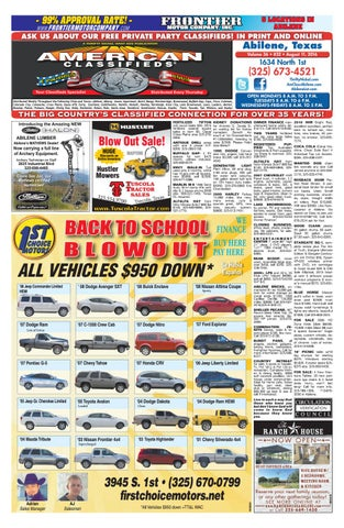 American Classifieds Abilene 08 11 16 by American Classifieds