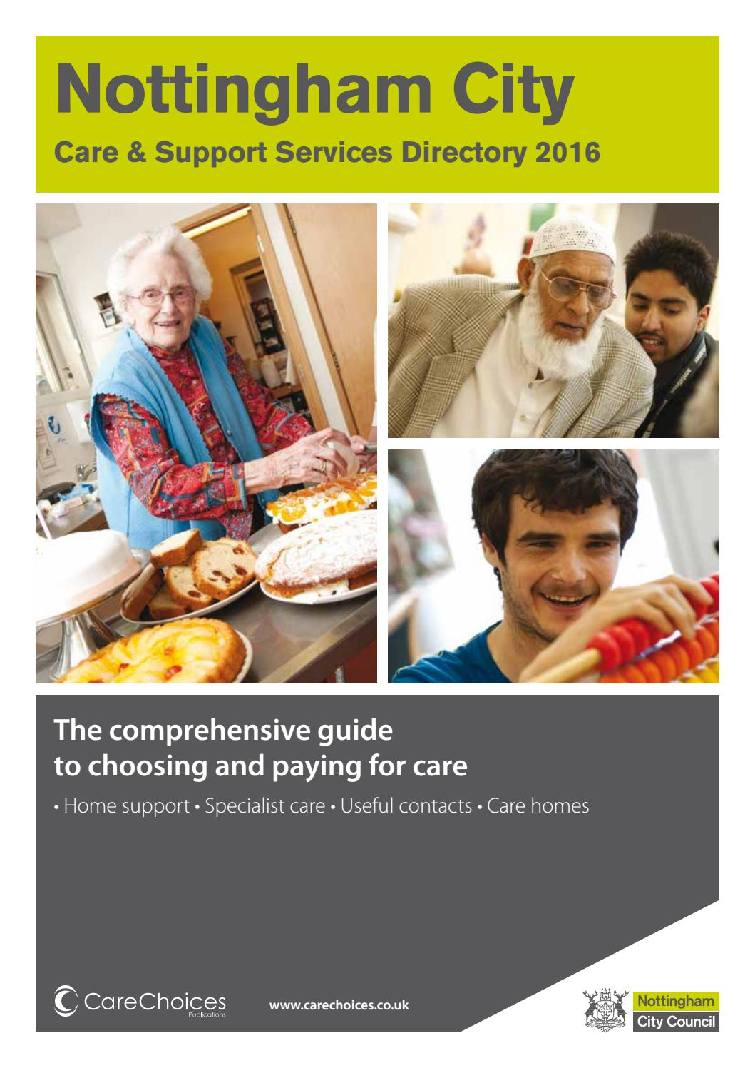 Nottingham City Care And Support Directory 2016 By Choices Ltd