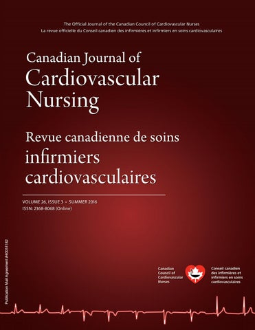 Canadian Journal of Cardiovascular Nursing, Volume 26, Issue