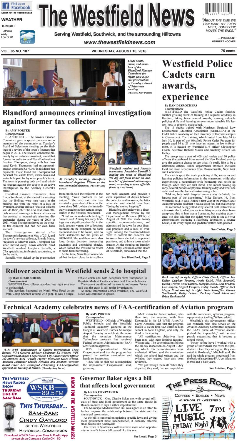 wednesday august 10 2016 by the westfield news issuu