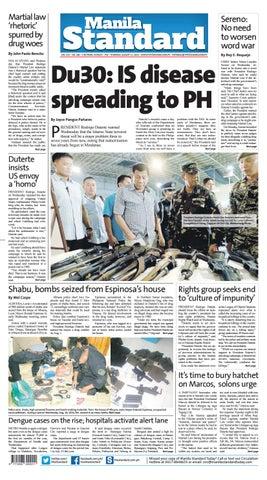 Manila Standard - 2016 August 11 - Thursday