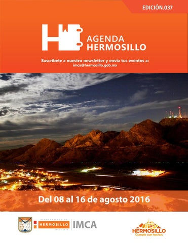 "Cover of ""Agenda hermosillo 08 agosto 2016"""