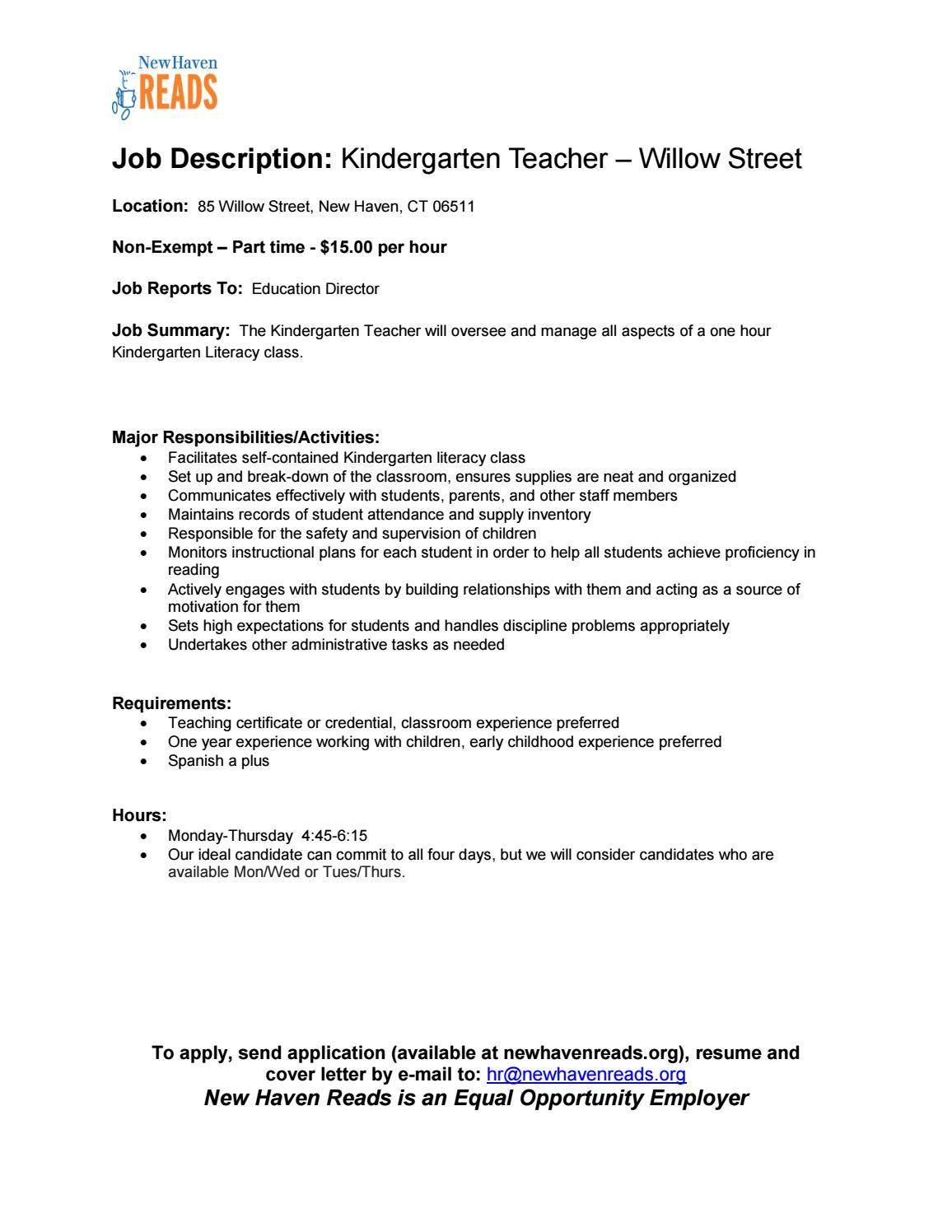 ideal job description