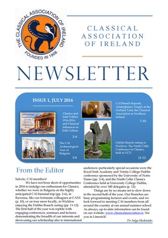 "Cover of ""CAI Newsletter July 2016"""