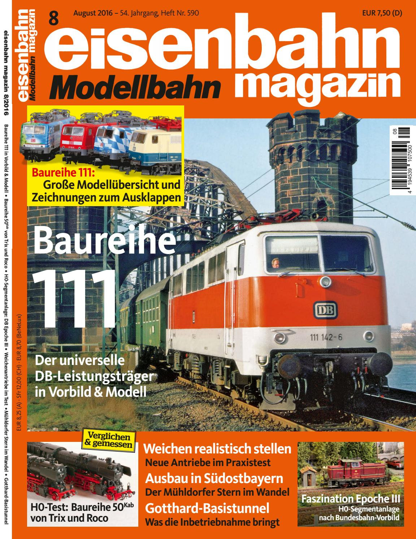 eisenbahn modellbahn magazin 2016 08 by patrice - issuu, Hause ideen