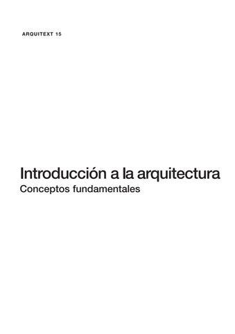 Introduccióna La Arquitectura Conceptos Fundamentales By