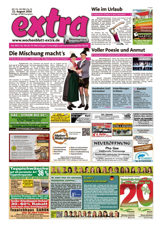 Kutter Gartenbau Gmbh Co Kg Tel 08331 9797 Extra Memmingen Vom Donnerstag 11 August By Rta Design Issuu