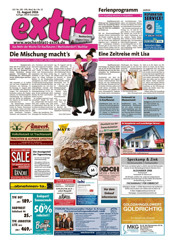 extra Kaufbeuren vom Donnerstag 11 August by rtasign GmbH issuu