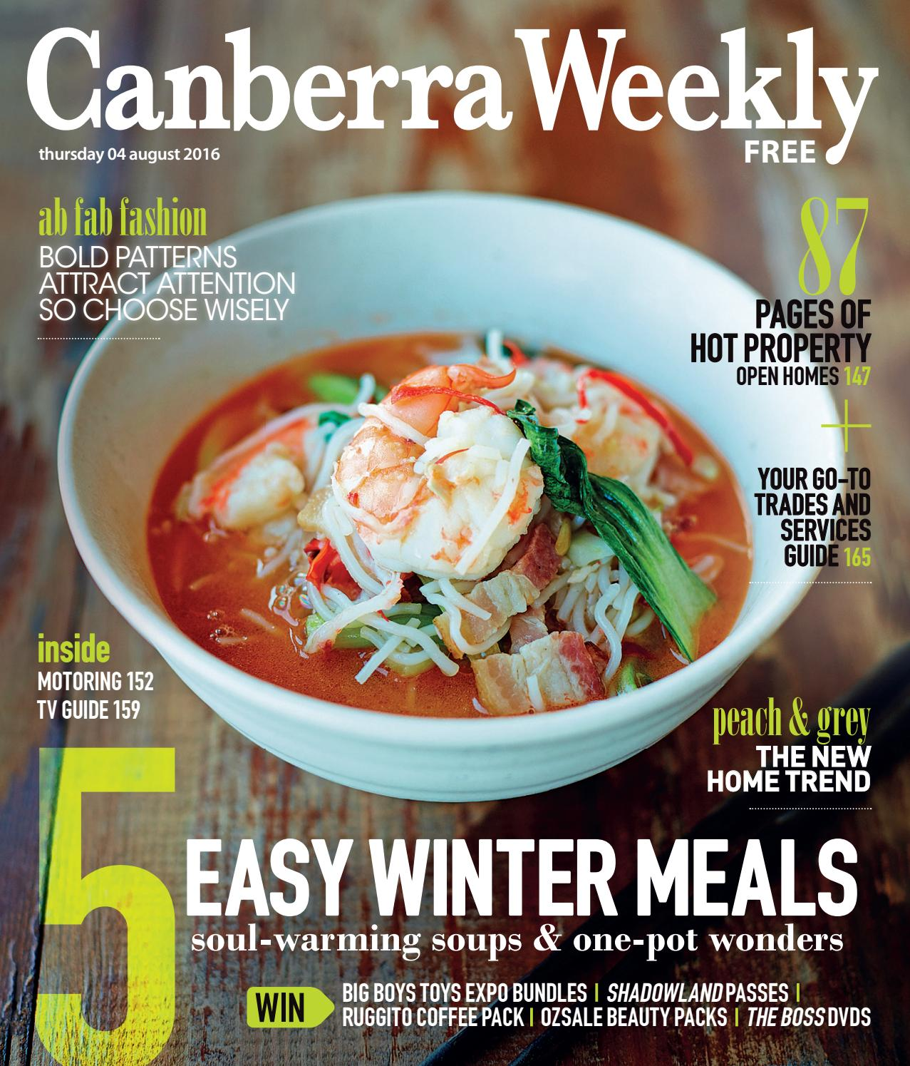 04 August 2016 By Canberra Weekly Magazine Issuu