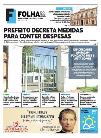 Jornal Folha do Sul, 11 de agosto de 2016 by Folha do Sul Gaúcho - issuu 880558738e